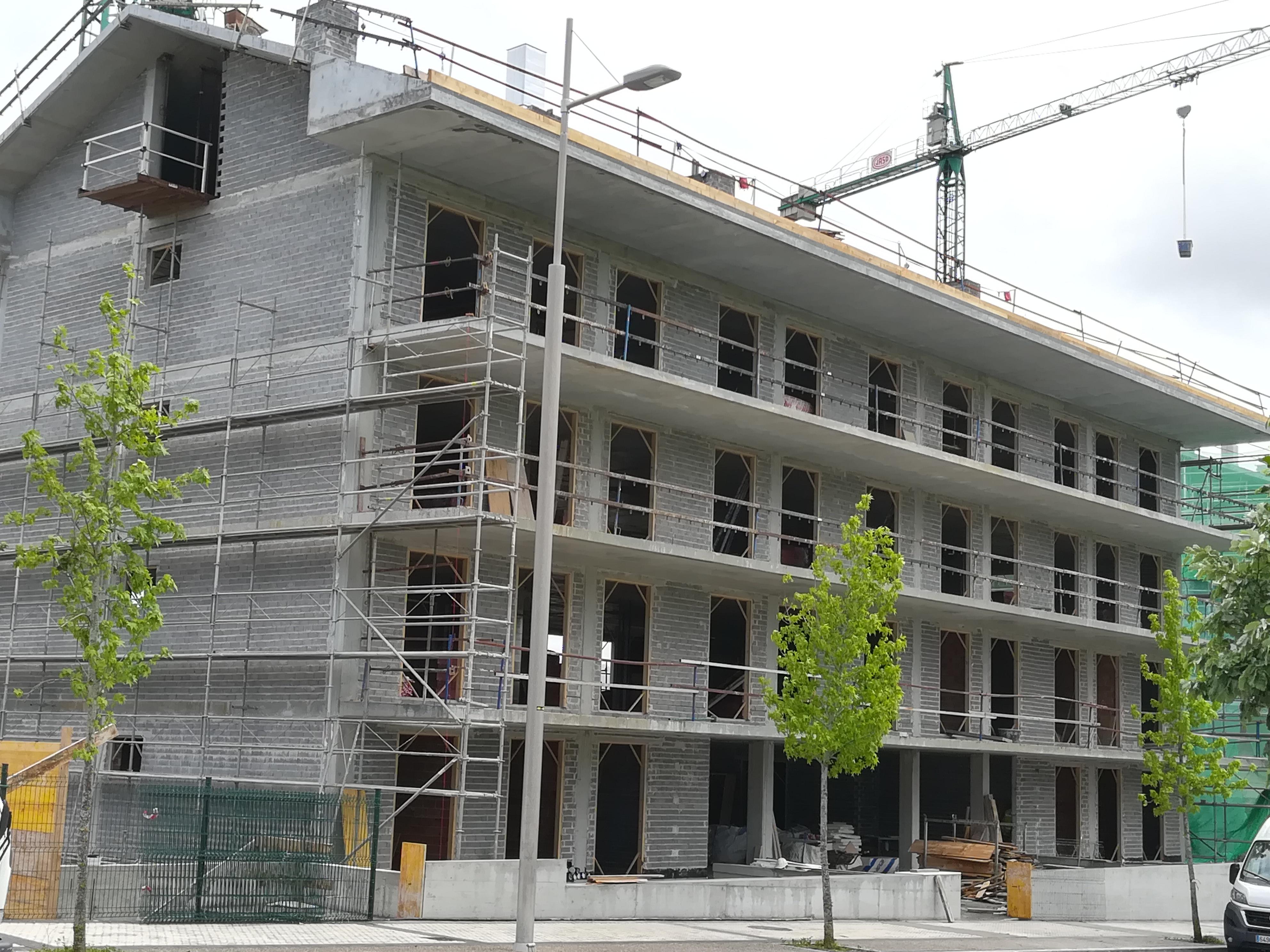 Progreso obras nueva construccion en Hondarribia