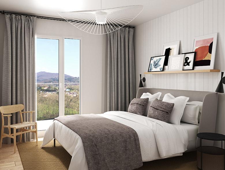 Dormitorio de la vivienda